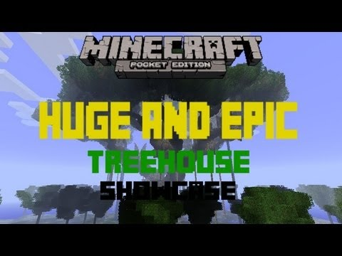 HUGE & EPIC Treehouse - Minecraft: Pocket Edition Showcase EP. 5 (HD w/ DL)