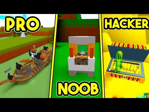 PRO vs NOOB vs HACKER!   Build A Boat For Treasure ROBLOX