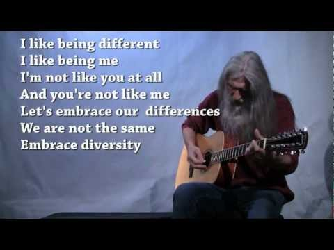 Diversity - Dan Grigor - 12 string guitar tuned in fifths. Amazing. (with lyrics)
