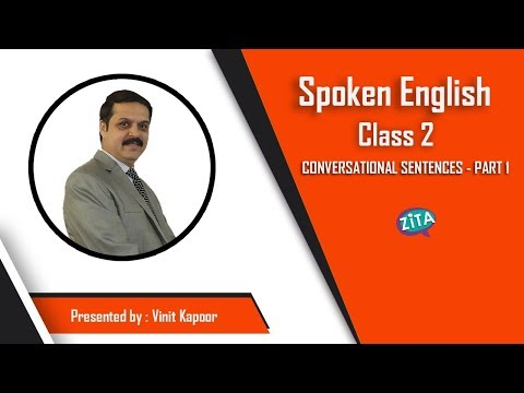 Spoken English Class 2- Daily use sentences for English Speaking