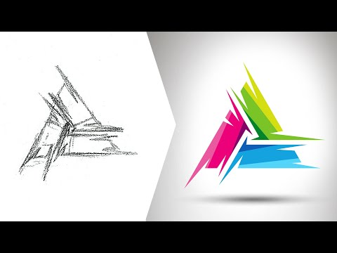 Drawing a Colorful Triangle Vector Logo
