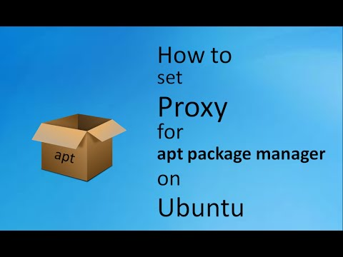 How to set Proxy for Apt Package manager in Ubuntu Operating System
