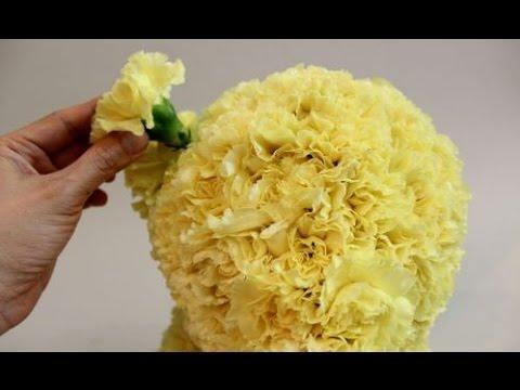 How to Make a Bear Shaped Flower Arrangement - Tutorial Video