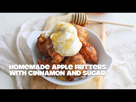 Homemade Apple Fritter Recipe with Cinnamon and Sugar