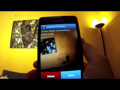 How to create animated gif from recording, existing images or existing movie file on android