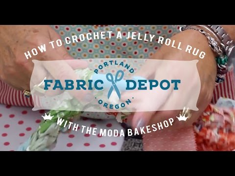 Moda Bake Shop: How to Crochet a Jelly Roll Rug