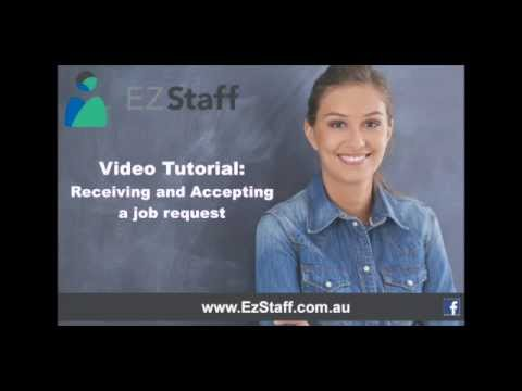How to Accept a Job Offer using the EzStaff System