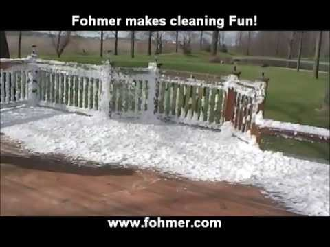 A better way to clean a deck with a pressure washer
