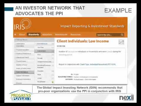 Nexii Webinar Series 2012: Progress out of Poverty Index (PPI)