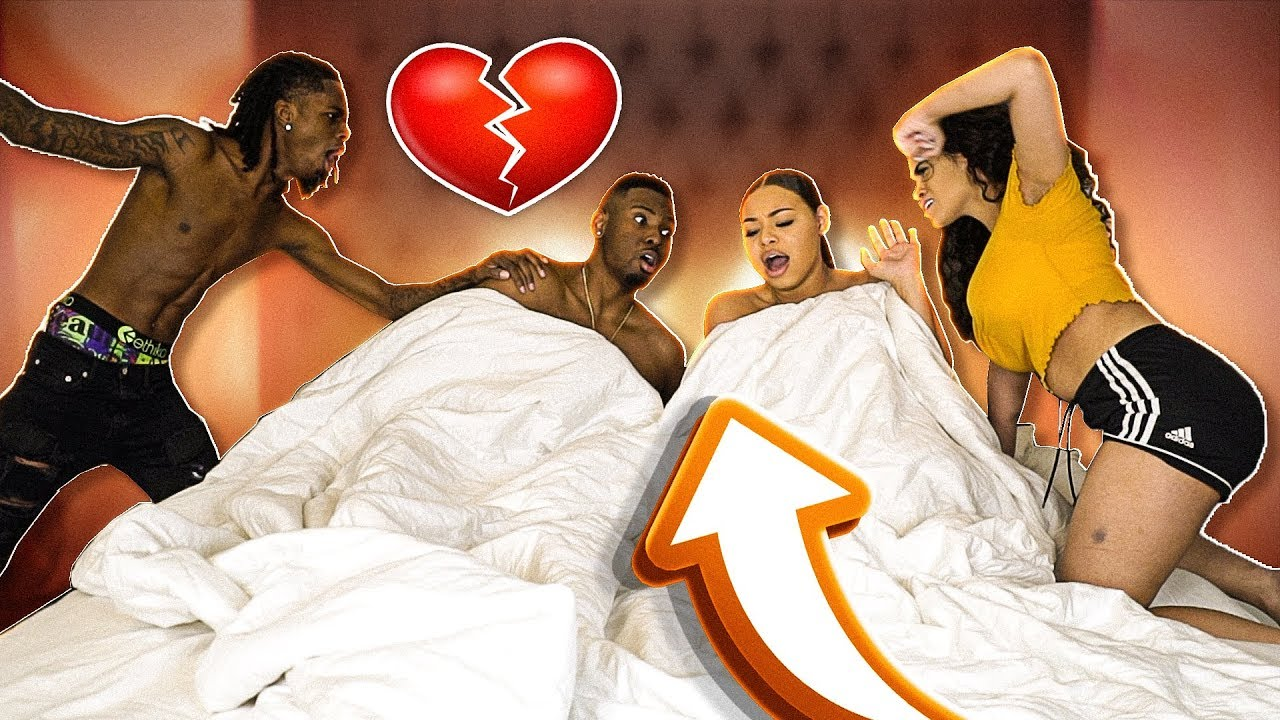 """CAUGHT CHEATING IN BED PRANK WITH JALYN FROM """"NYYEAR AND JALYN"""""""
