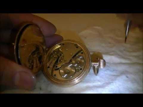 How to take out pocket watch movement from its case?  Dismantle Part1