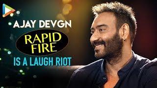 Ajay Devgn's HILARIOUS Questions for Ranveer Singh & Aamir Khan are LAUGH RIOT | Rapid Fire