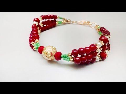 Handmade Bracelet for Womens Girls / Fancy Beads Bracelets Making Tutorial