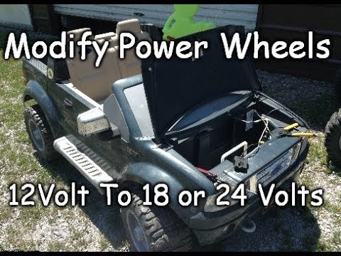 How To Modify 12V To 18 Or 24 Volts - Easy Ford Raptor F-150 Power Wheels Conversion