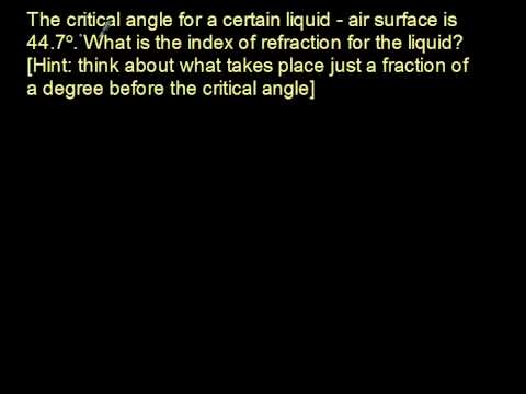 Five Minute Physics - Refraction & Critical Angle
