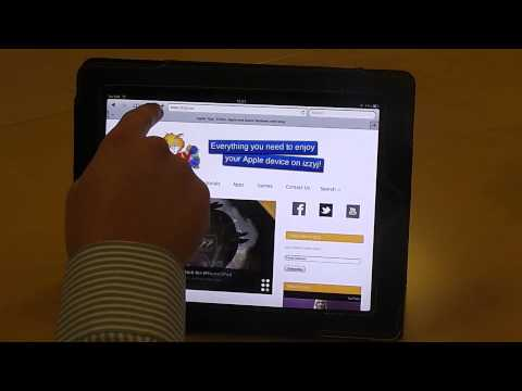Add a bookmark on Safari for your iPad