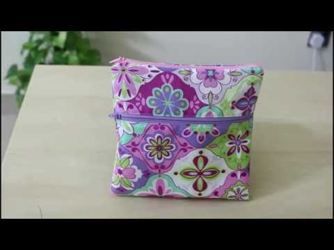 Easy Double Zippered Pouch DIY