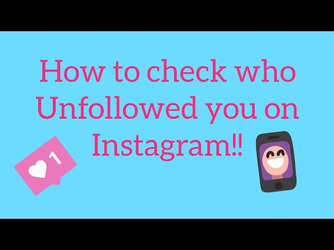 How to check who unfollowed you on instagram!! ❤ easy!!