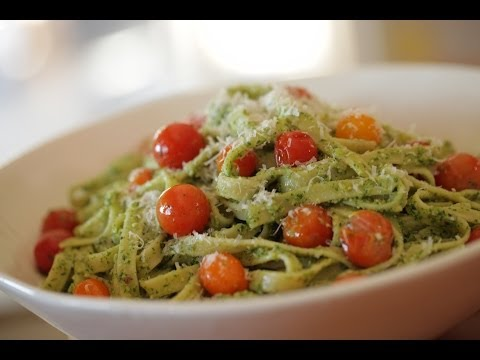 Pesto Pasta With Cherry Tomatoes Recipe
