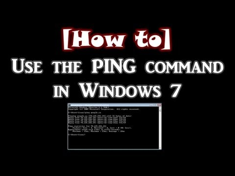 How to use the Ping command in Windows