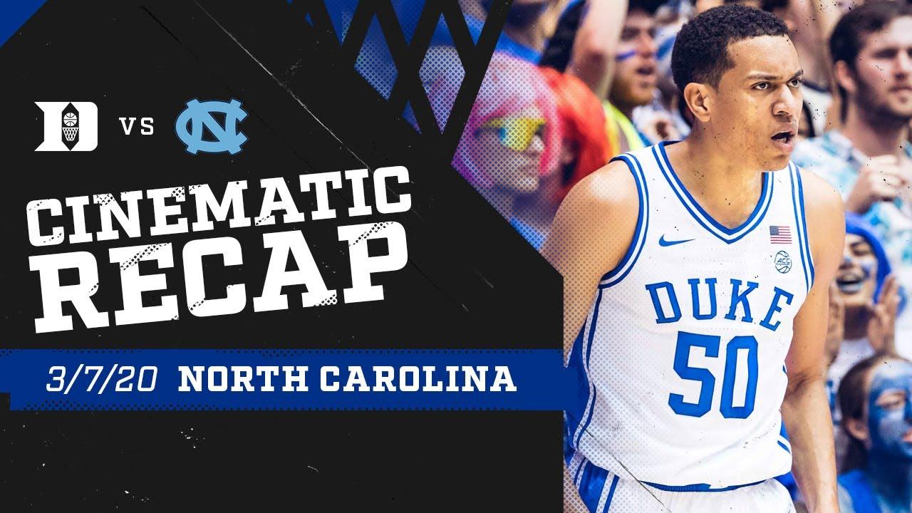 2019-20 Duke vs. UNC   Cinematic Recap