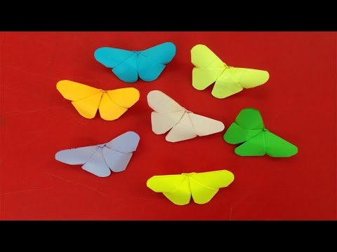 How to make paper butterflies | Easy origami butterfly for beginners making | DIY-Paper Crafts