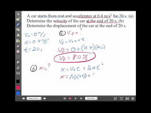 Linear Motion Lecture 2