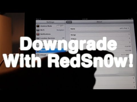 How to downgrade the iPhone 4S, iPad 2, or iPad 3 with RedSn0w 0.9.11b1