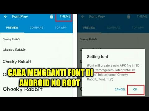 Cara ganti font di Android NO ROOT