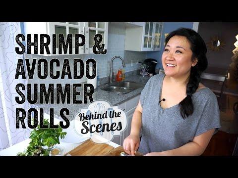 Behind the Scenes! Shrimp & Avocado Summer Rolls Episode (6/17/15) | Chef Julie Yoon