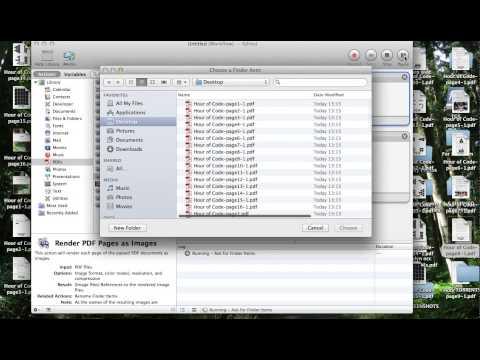 Changing PDF to JPG (Using Automator)
