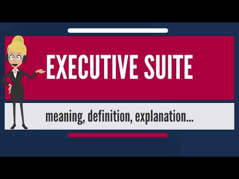 What is EXECUTIVE SUITE? What does EXECUTIVE SUITE mean? EXECUTIVE SUITE meaning & explanation