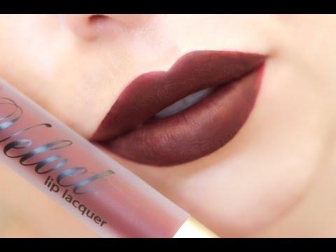 MUA Luxe Velvet Lip Lacquer Kits | Swatches