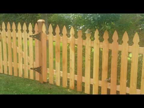 4' High French Gothic Fence  by Arteaga fence
