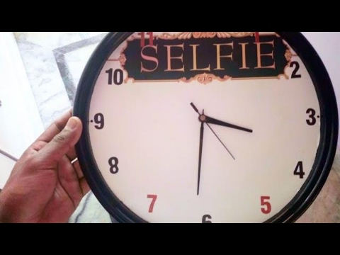 Clock make with waste material
