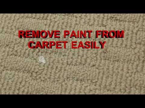 HOW TO REMOVE PAINT FROM CARPET THIS WORKS!