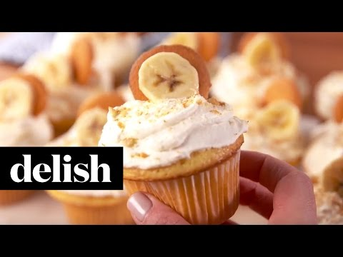 Banana Pudding Cupcakes | Delish