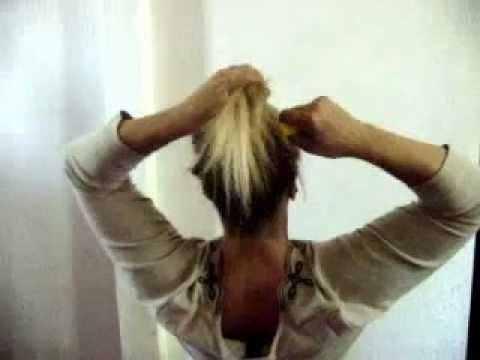 One - Time Hair Flips Messy Bun