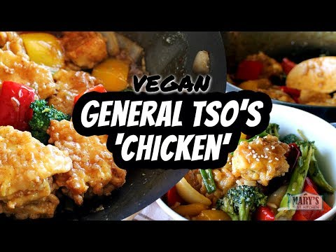 VEGAN GENERAL TSO'S 'CHICKEN' RECIPE (gluten-free) | Mary's Test Kitchen