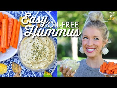 The Perfect Party Dip: Easy, Oil-Free Hummus Recipe (Whole Foods Plant-based, Vegan)