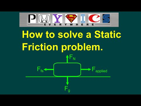 Static friction solution