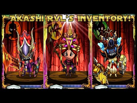 Akashi RvL's Inventory/Class Builds! [Happy Dungeons]