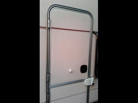 How to repair a caravan door lock mechanism