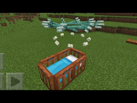 MCPE 1.4 How To Make  Realistic Spinning Crib toy | Command Block Creation