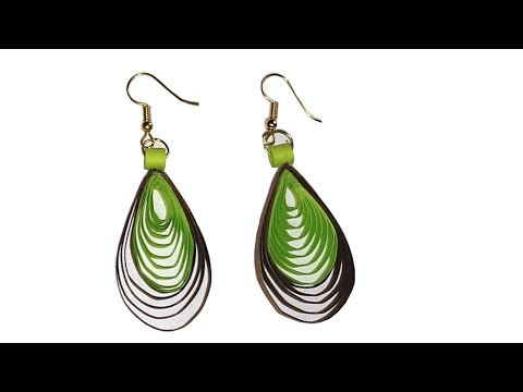 How to make Quilling Earrings using Comb || Paper Earrings || Easy Quilling earrings