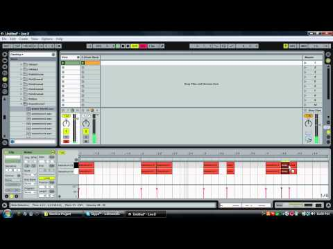 Ableton Live: How to Make a Dubstep Drumbeat (Tutorial)