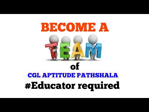 Become a family of Cgl aptitude pathshala # Educator requirement