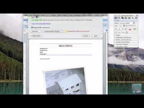 How To Export PDF's In Word (mac)