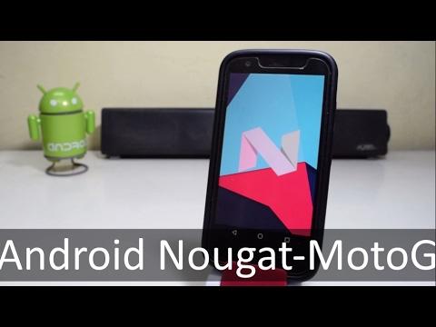 Install Android Nougat 7.0 (CM14) on Moto G 1st Gen !!