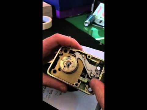How a mechanical safe lock works inside